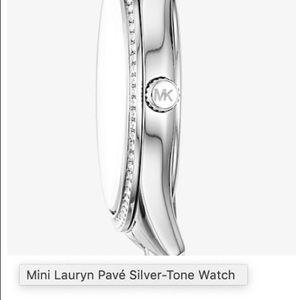 Michael Kors - Mini Lauren Pave Silver-Tone Watch